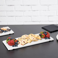 Cal-Mil 3469-156-15 15 inch x 6 inch x 1/2 inch White Flat Porcelain Tray