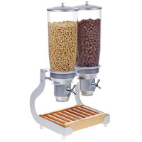 Cal-Mil 3516-5-98 Beechwood Turn and Serve 5 Cylinder Cereal Dispenser - 31 inch x 11 inch x 25 3/4 inch