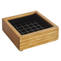 Cal-Mil 330-4-99 Madera 4 inch x 4 inch x 1 inch Rustic Pine Drip Tray