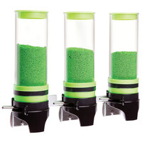 Cal-Mil 3525-3-40 Green 3 Cylinder Topping Click Dispenser - 15 3/4 inch x 7 1/4 inch x 12 inch