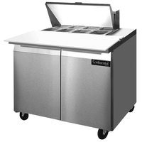 Continental Refrigerator SW36-8C 36 inch 2 Door Cutting Top Refrigerated Sandwich Prep Table