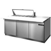Continental Refrigerator SW72-12C-FB 72 inch 3 Door Cutting Top Front Breathing Refrigerated Sandwich Prep Table