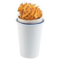 Cal-Mil 3462-15 White Enamelware 3 1/2 inch Melamine French Fry Holder