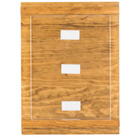 Cal-Mil 3483-811-99 Madera 8 1/2 inch x 11 inch Reclaimed Wood Displayette