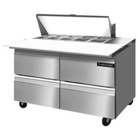 Continental Refrigerator SW48-10C-D 48 inch 4 Drawer Cutting Top Refrigerated Sandwich Prep Table