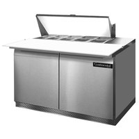 Continental Refrigerator SW48-10C-FB 48 inch 2 Door Cutting Top Front Breathing Refrigerated Sandwich Prep Table