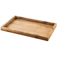 Cal-Mil 1367-10-99 Madera 12 inch x 9 3/4 inch x 1 1/4 inch Rustic Pine Serving Tray