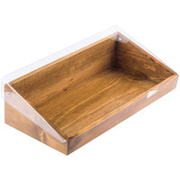 Cal-Mil 1332-12-99 Madera Rustic Pine Display Bin with Clear Lid - 20 inch x 11 inch x 6 1/2 inch