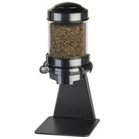 Cal-Mil 3524-1-13 Black Freestanding 1.5 Liter Tea Leaf and Topping Dispenser - 6 1/4 inch x 8 inch x 16 1/4 inch