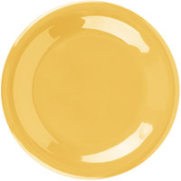 Carlisle 3301622 Sierrus 7 1/2 inch Honey Yellow Wide Rim Melamine Salad Plate   - 48/Case