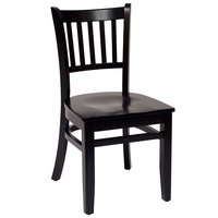BFM Seating LWC102BLBLW Delran Black Wood Side Chair