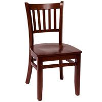 BFM Seating LWC102MHMHW Delran Mahogany Wood Side Chair
