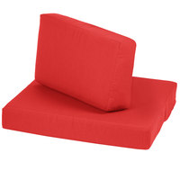 BFM Seating PH5101-CU5477 Aruba Logo Red Canvas End Armchair Cushion Set