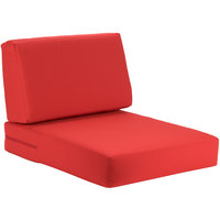 BFM Seating PH5102-CU5477 Aruba Logo Red Canvas Armchair Cushion Set