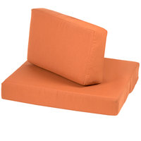 BFM Seating PH5101-CU54010 Aruba Rust Canvas End Armchair Cushion Set
