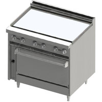 Blodgett BR-36G-36C Liquid Propane 36 inch Manual Range with Griddle Top and Convection Oven Base - 102,000 BTU