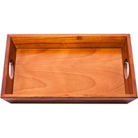 Wooden Room Service Tray with Handles - 24 inch x 16 inch