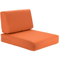 BFM Seating PH5102-CU54010 Aruba Rust Canvas Armchair Cushion Set