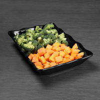 Elite Global Solutions M1014S The Bakers 14 inch x 10 inch Black Scalloped Melamine Tray
