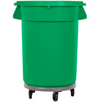 32 Gallon Green Trash Can, Lid, and Dolly Kit