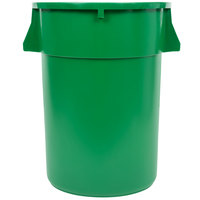 Continental 4444GN Huskee 44 Gallon Green Trash Can
