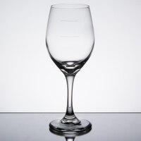 Libbey 3057-1178N Perception 11 oz. Wine Glass with Pour Lines   - 24/Case