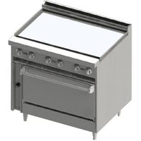 Blodgett BR-36GT-36C Liquid Propane 36 inch Thermostatic Range with Griddle Top and Convection Oven Base - 102,000 BTU