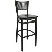 BFM Seating 2161BBLW-SB Polk Sand Black Metal Bar Height Chair