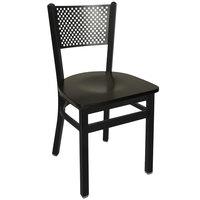 BFM Seating 2161CBLW-SB Polk Sand Black Metal Side Chair