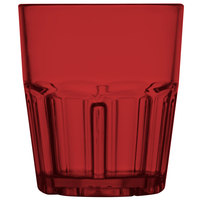 GET 9912-1-R Bahama 12 oz. Red Break-Resistant Customizable Plastic Tumbler - 72/Case