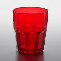 GET 9912-1-R Bahama 12 oz. Red Customizable SAN Plastic Tumbler - 72/Case