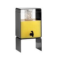 Cal Mil 2015-3-13 Black 3 Gallon Retro Beverage Dispenser with Ice Core – 10 1/2 inch x 10 inch x 20 1/4 inch