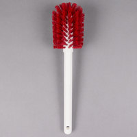 Carlisle 4000005 Sparta 12 inch Red Carafe & Server / Bottle Cleaning Brush