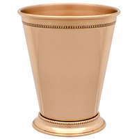 10 Strawberry Street COP-JULEP 12 oz. Copper Mint Julep Cup with Beaded Detailing