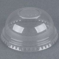 Dart Solo DNR685 7 oz. Clear PET Plastic Dome Lid - 2500/Case