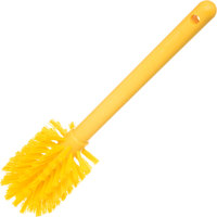 Carlisle 40000C04 Sparta Spectrum 12 inch Yellow Carafe & Server / Bottle Cleaning Brush- 2 3/4 inch Bristle Diameter