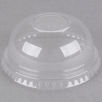 Dart DNR685 7 oz. Clear PET Plastic Dome Lid - 125/Pack