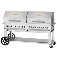 Crown Verity MCB-72RDP Liquid Propane 72 inch Mobile Outdoor Grill with Roll Dome Package