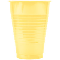 Creative Converting 28102071 12 oz. Mimosa Yellow Plastic Cup - 240/Case