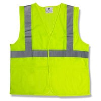 Lime Class 2 High Visibility Surveyor's Safety Vest with Velcro® Closure - XXL
