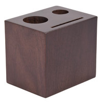 American Metalcraft WBW 3 1/2 inch x 2 3/4 inch Espresso Block Check Presenter
