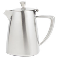 Vollrath 46309 Triennium 9 oz. Satin-Finished Stainless Steel Creamer with Lid
