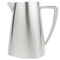 Vollrath 46306 Triennium 2.3 Qt. Satin-Finished Stainless Steel Water Pitcher with Ice Guard