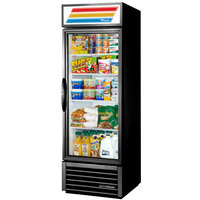 True GDM-19T-HC~TSL01 27 inch Black Glass Door Merchandiser with LED Lighting - 19 Cu. Ft.