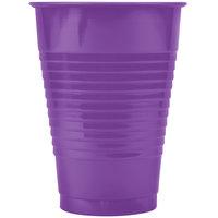 Creative Converting 318921 12 oz. Amethyst Purple Plastic Cup   - 240/Case