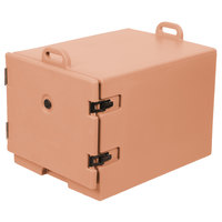 Cambro 1826MTC157 Camcarrier Coffee Beige Front Loading Insulated Tray / Sheet Pan Carrier for Full Size Pans