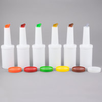 1 Qt. White Pour Bottle Kit with Assorted Spouts and Caps
