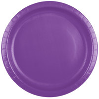 Creative Converting 318915 10 inch Amethyst Purple Paper Plate - 240/Case