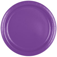 Creative Converting 318927 9 inch Amethyst Purple Round Paper Plate - 240/Case