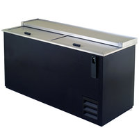 "Excellence HBC-65 66"" Black Bottle Cooler"